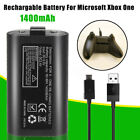 2/4Pcs Rechargable Battery Charge Play+USB Cable For Microsoft Xbox One 1400mAH