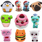 US Cute Kawaii Squishies Soft Bread Squishy Cat Slow Rising Stress Reliever Toy