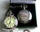 Royal Navy Crested Engraved Custom Personalised Pocket Watch & Chain Gift Box