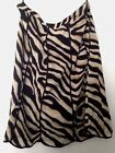"Mix Nouveau Women 100% Cotton 30"" Long Tiger Print Lined Skirt Black 3X/Brown 2X"