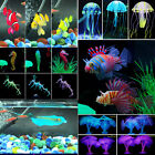 US Aquarium Tropical Fish Tank Landscaping Decor Glowing Effect Plants Ornament