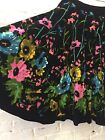 NWT M Mix Nouveau Swing Skirt Black Floral Sequins Corduroy Boho Western Rock