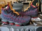 Nike LeBron XV 15 New Heights Cavs Media Day Black Red 897648-300 Air Ghost Zoom