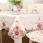Tablecloth White Embroidered Lace Table Cloth Wedding Party Dining Home Decor