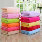 Super Soft Solid Warm Micro Plush Fleece Blanket Throw Rug Sofa Bedding image