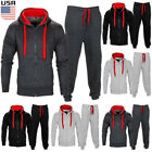 Mens Tracksuit Jogging Top Bottom Sport Sweat Suit Hoodie Coat Trousers Pant Set
