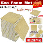 LOT EVA Foam Floor Interlocking Mat Show Tiles Play Gym Dark LIGHT Wood Color EG
