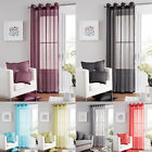 Luxurious SINGLE SWISS VOILE EYELET RING TOP DOOR CURTAIN PANEL 140 X 228 CM