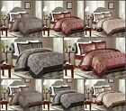 Luxury 3Pcs (Piece) Jacquard Quilted Bedspread, Comforter Set Double King Sizes