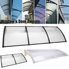 Door Window Outdoor Awning Polycarbonate Patio Sun Shade Cover Canopy Shield US