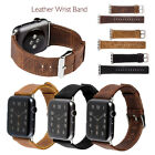 High Quality Genuine Leather Wrist Band Strap For Apple Watch iWatch 1/2/3 38/42