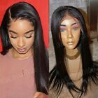 Peruvian Human Hair 360 Lace Front Wig Pre Plucked 4*4 Silk Top Full Lace Wig 1F