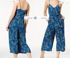 FREE PEOPLE  Sz 12 Hot Tropics Jumpsuit Blue New Tags