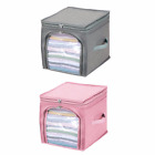 Portable Storage Box Antibacterial Nonwoven Durable Foldable Clothing Organizers