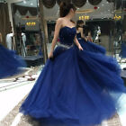 Royal Blue Princess Quinceanera Dress Sweetheart Beaded Sweet 16 Dress Prom Gown
