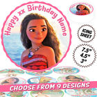 Moana Cake Topper, Round, Personalised, Printed on Icing, 9 Designs, 3 Sizes