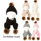 1xBaby Winter Warm Hat Knit Infant Toddler Kid Crochet Hat Beanie Cap+1x scarf