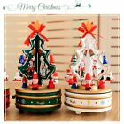 Romantic Christmas Trees Music Box Home Decoration Wooden Rotary Music BTW