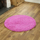 MODERN SMALL EXTRA LARGE PINK COLOUR THICK 5CM PILE NON-SHED SHAGGY RUG RUNNERS