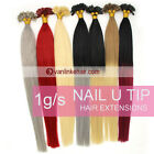 16-22''Double Drawn Nail U Tip Pre-Bonded Keratin Ombre Human Hair Extensions 1G