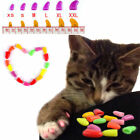 Cute 20pcs Soft Cat Nail Caps Pet Dog Claw Covers Paw Protective Kitty Decor