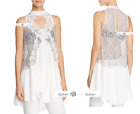 FREE PEOPLE  Sz  M+L  Tell Tale Heart Lace Top Ivory New Tags