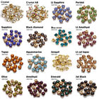 17 Color Sew on Rhinestone Gold Claw Stones Round Glass 6mm 100pcs for dresses