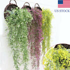 Home Garden - Artificial Hanging Ivy Garland Plants Vine Fake Foliage Flower wisteria Home KM