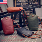 Retro Women Wallet Purse Leather Coin Cell Phone Mini Cross-body Shoulder Bag KM