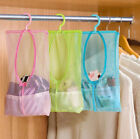Внешний вид - Bathroom Storage Clothespin Mesh Bag Hooks Hanging Bag Organizer Shower Bath