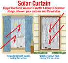 Reflective Heat Controlling Solar Curtain, by Collections Etc