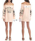 FREE PEOPLE   S+L  Fleur Du Jour Mini Dress PINK New Tags tg