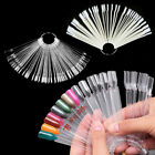madeira rayon thread color chart - 50pcs Nail Art Polish Gel Design Display Palette Color Chart w/ Ring Handle