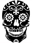 Sugar Skull Day Of The Dead Wall Car Truck Window Laptop Vinyl Decal Sticker