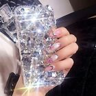 Vogue Girl 3D Bling Crystal Diamond Phone Case Cover For iPhone X 7 Plus Samsung