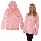 Brave Soul Womens Jasmine Festival Mac Ladies Neon Floral Lace Hooded Raincoat
