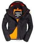 New Mens Superdry Pop Zip Hooded Arctic Sd-Windcheater Charcoal Marl