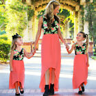 Mother Daughter Beach Holiday Party Matching Long Maxi Dress For Women Baby Girl