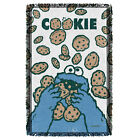 Sesame Street Cookie Monster Crumble Woven Throw Blanket Free Shipping In Us