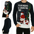 Threadbare Adults Novelty Christimas Festive Jumpers Rude Knitted Xmas Parcel