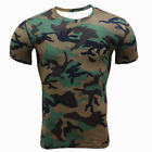 Men 2Pcs Fitness Camouflage Sportswear Short Sleeve T-Shirt O-Neck Tracksuit 3XL