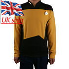 Cosplay Star Trek Gold Shirt Starfleet Command Uniform Star Trek TNG Uniform New