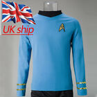 Star Trek Spock Blue Shirt Uniform TOS The Original Series Cosplay Costume New on eBay