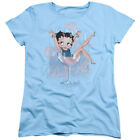 BETTY BOOP PINK CHAMPAGNE T-Shirt Womens' Short Sleeve Jersey $26.99 USD
