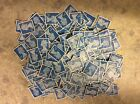 200 2nd class stamps unfranked, blue security type ,  off paper no gum, mvv