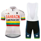 New Mens Cycling Bike Racing Jersey Bib Shorts Sets Tops Bottom Suits Fashion