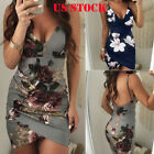 US Women Summer Bandage Bodycon Casual Evening Party Cocktail Short Mini Dress