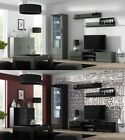 SOHO 2 LIVING FURNITURE SET TV STAND DISPLAY CABINET SIDEBOARD LED GLOSSY FRONTS