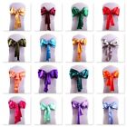 PACK OF 5 SATIN CHAIR COVER BOW SASH FOR WEDDING / PARTY UK SELLER!