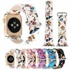 Bird Flowers Genuine Leather Wristwatch Strap Bands for Apple Watch Series 1 2 3